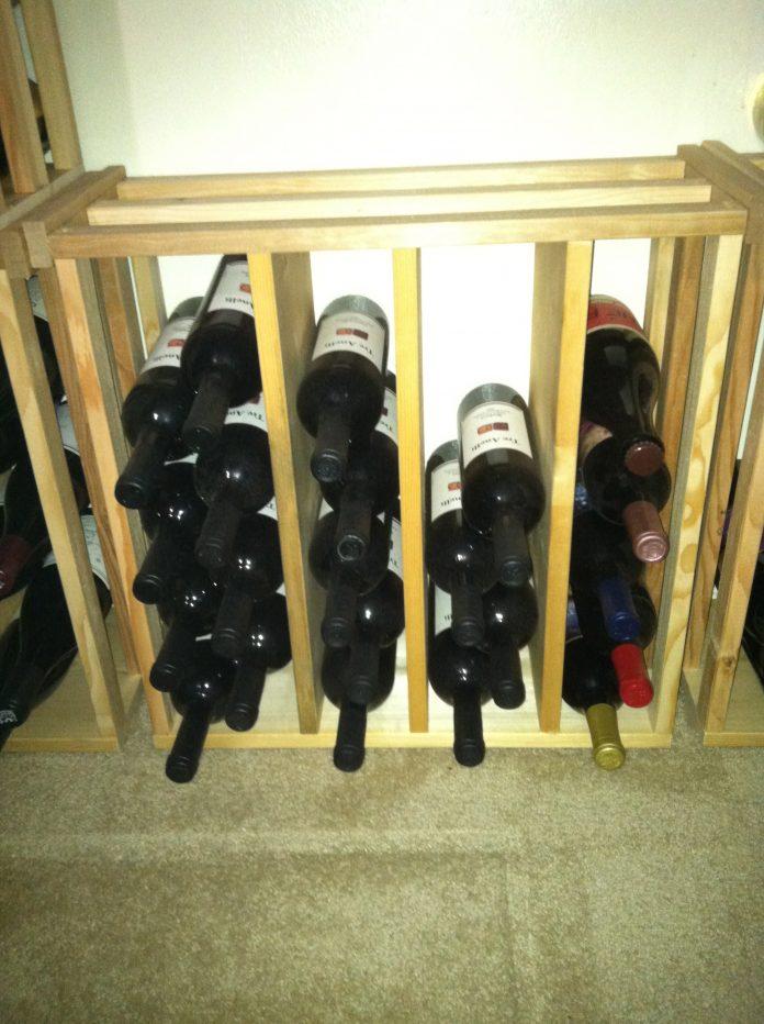 vyno butelių laikymas