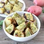 Griliuje keptos bulvės su pesto